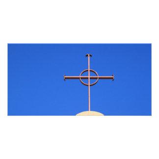 Church Cross Customized Photo Card