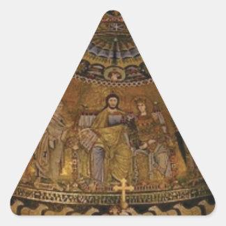 Church dome arch temple triangle sticker