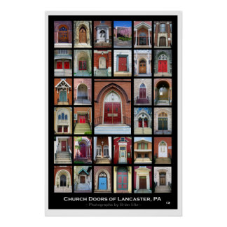 """Church Doors of Lancaster, Pa"" 2nd ed. Poster"