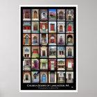 """Church Doors of Lancaster, PA"" Poster"