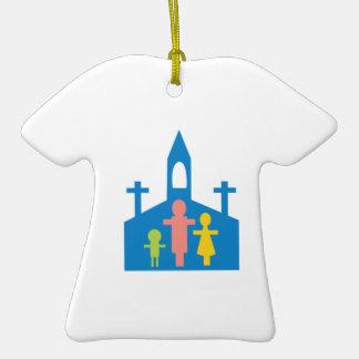 Church Family Ceramic T-Shirt Ornament
