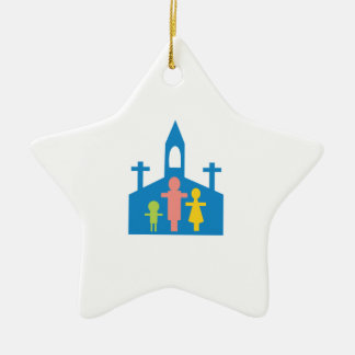 Church Family Ceramic Star Ornament