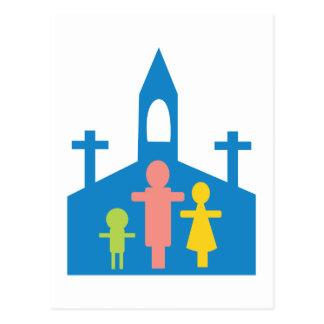 Church Family Postcard
