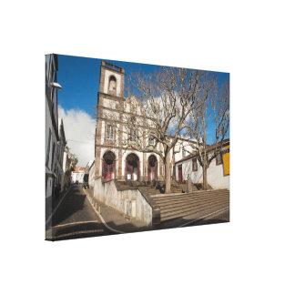 Church in Azores Canvas Print