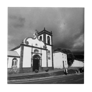 Church in Azores Small Square Tile