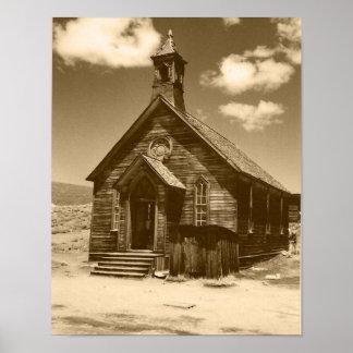Church in Bodie, CA (sepia) Print