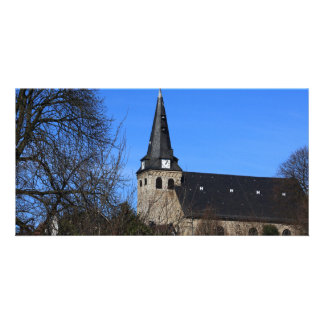 church in early spring 2 photo card template