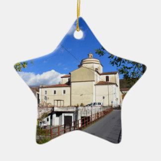 Church In Laino Borgo Christmas Tree Ornaments