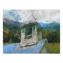Church In The Mountains Poster