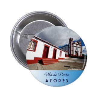 Church in Vila do Porto 6 Cm Round Badge