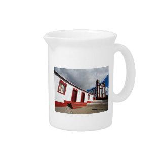 Church in Vila do Porto Drink Pitcher