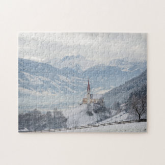 Church in Zillertal in winter jigsaw puzzle