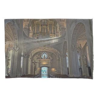Church interior architectural building pillowcase