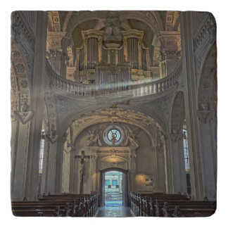 Church interior architectural building trivet