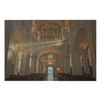 Church interior architectural building wood wall decor