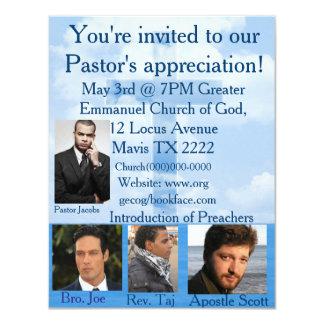 Church invitation personalize