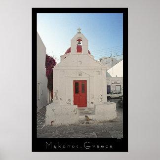 Church Kitty - Mykonos Poster