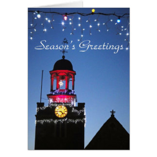 Church lights Christmas card