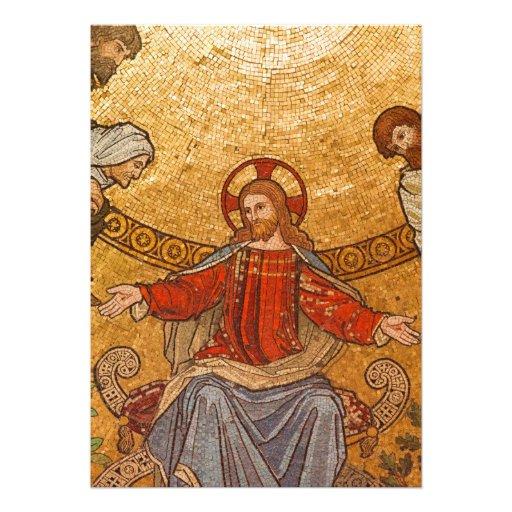 Church Mosaic - Jesus Christ Personalized Invitations
