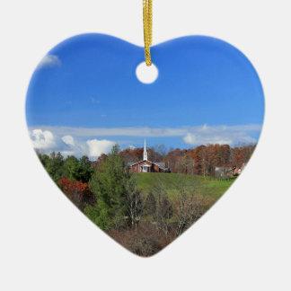 Church-Mountains IMG_4442.jpg Ceramic Heart Decoration
