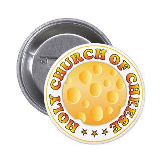 Church Of Cheese R 6 Cm Round Badge