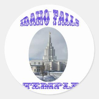 Church of Jesus Christ of Latter Day Saints Temple Round Sticker