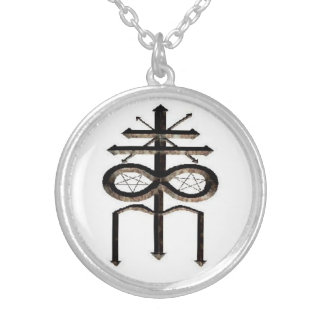 church Of Leviathan Sigil Silver Plated Necklace