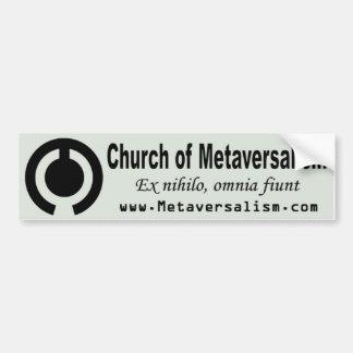Church of Metaversalism Bumper Sticker