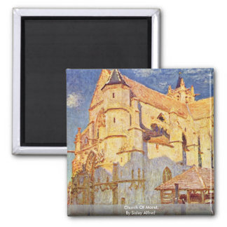 Church Of Moret, By Sisley Alfred Magnet