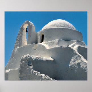 Church of Panagia Paraportiani, Mykonos, Greece Poster
