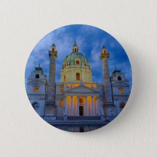 Church of Saint Charles, Vienna 6 Cm Round Badge