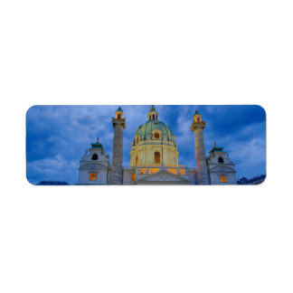 Church of Saint Charles, Vienna Return Address Label