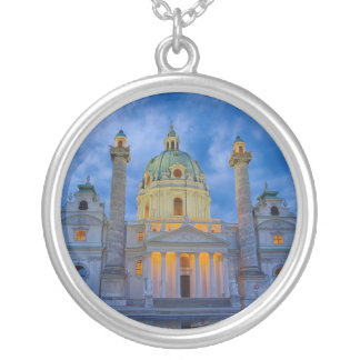 Church of Saint Charles, Vienna Silver Plated Necklace