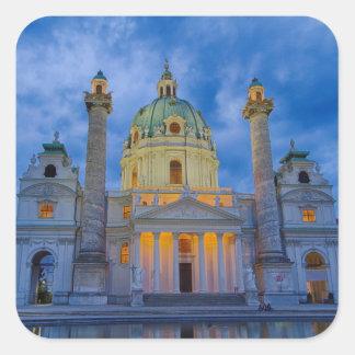 Church of Saint Charles, Vienna Square Sticker