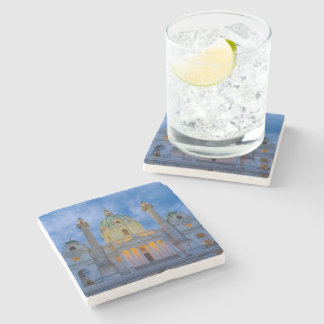 Church of Saint Charles, Vienna Stone Coaster
