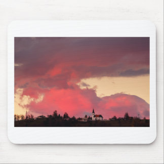 Church of Saint Nicholas at sunset Mouse Pad