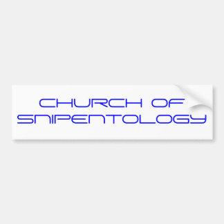 CHURCH OF SNIPENTOLOGY BUMPER STICKERS
