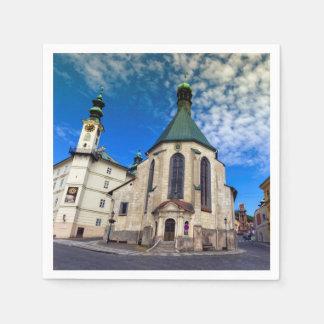 Church of St. Catherine, Banska Stiavnica,Slovakia Disposable Napkins