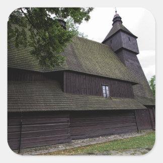 Church of St Francis Assisi - Hervartov - Slovakia Square Sticker