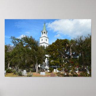 Church of St. Helena, Beaufort, South Carolina Poster