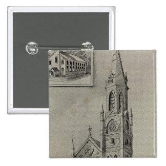 Church of the Assumption, Ansonia, Conn 15 Cm Square Badge