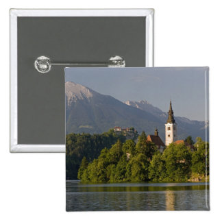 Church of the Assumption on island in Lake 15 Cm Square Badge