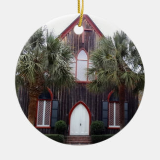 Church of the Cross - Bluffton, South Carolina Round Ceramic Decoration