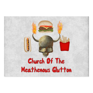 Church Of The Heathenous Glutton Pack Of Chubby Business Cards