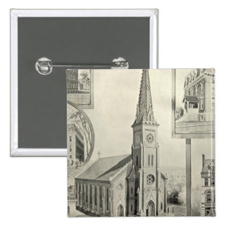 Church of the Immaculate Conception, Waterbury 15 Cm Square Badge