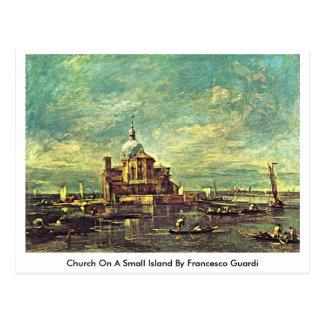 Church On A Small Island By Francesco Guardi Postcard