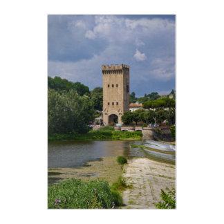 Church on Arno River Acrylic Print