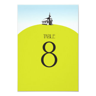 Church on Hill Table Number Card