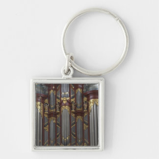 Church organ key ring