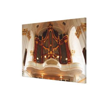 Church Organ Pipes Canvas Print